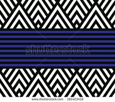 Seamless raster geometric striped vector pattern background - stock photo