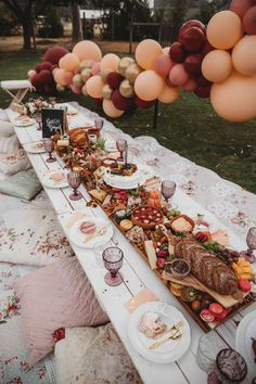 Lavish Baby Sprinkle Gorgeous Guest / Grazing Table from a Lavish Baby Sprinkle on Kara's Party Ideas Mothers Day Dinner, Baby Sprinkle, Grazing Tables, Outdoor Parties, Picnic Parties, Decoration Table, Backyard Party Decorations, Birthday Dinners, Event Decor