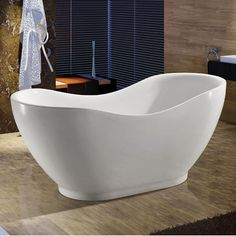 Features:  -Ergonomic design forms to the body's shape for ultimate comfort.  -Double walled design, keeping water at its desired temperature longer.  Capacity: -106 Gallons.  Finish: -Glossy White.