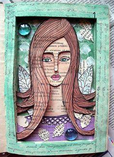 altered book She / Ona