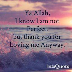 Thankful to Allah.