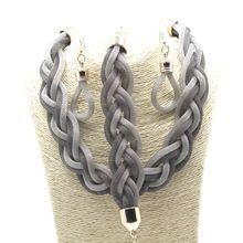 Hot Sedem Farby z ľahkých zliatin Reťazové sady pre ženy Módny Vintage Short náhrdelník náramok náušnice (Čína (pevninská časť))