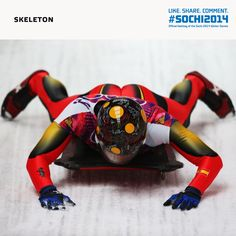 Spider-Man? Nothing feels quite so good as solid ground after whizzing down the ice track! #sochi2014