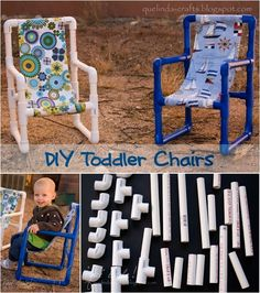 Toddler Chairs Made out of PVC Pipe