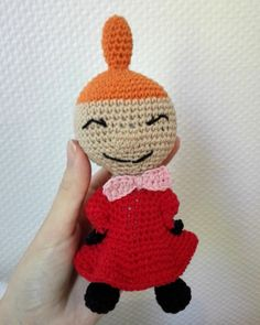 Little My from Moomin – free pattern – Katrine Klarer Crochet Amigurumi Free Patterns, Crochet Dolls, Knitting Patterns, Love Crochet, Crochet Baby, Knit Crochet, Baby Barn, Thick Yarn, Little My