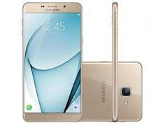 """Smartphone Samsung Galaxy A9 32GB Dourado DualChip - 4G Câm. 16MP + Selfie 8MP Tela 6"""" FHD Octa Core   R$ 1.849,90 em até 10x de R$ 184,99 sem juros no cartão de crédito"""