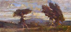 Cristiano Banti pittore - Boscaiole