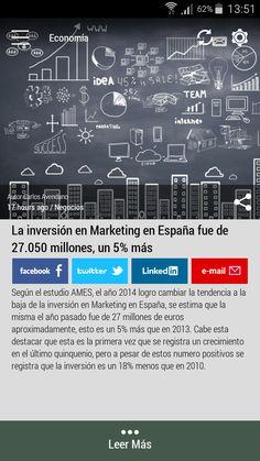 #Born2Invest: Las mejores noticias de negocios y finanzas de fuentes confiables. Aplicación Android gratis. Descarga ahora. #marketing #españa #inversion #economia #negocios #idea #team