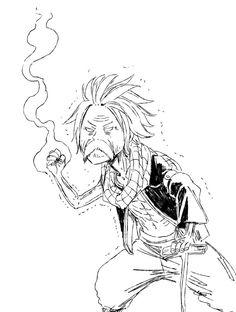 Petit graffiti d'Hiro Mashima avec Natsu tout. Fairy Tail Gray, Natsu Fairy Tail, Fairy Tail Manga, Fairy Tail Ships, Fairy Tail Funny, Fairytail, Jellal, Nalu, Zeref