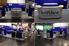 Trifibre Exhibition stand built in house. Flight Cases available at the Euroshop 2014.