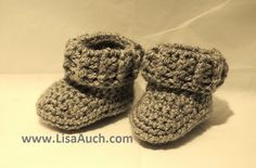 Delightfully easy to crochet baby booties, great for a little boy, and these bootees can be made...