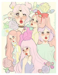 Michelle Macias - Pastel Girls