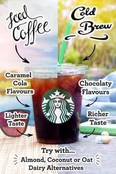 These chilled cousins are more different than you might think. Cold Brew is made without heat, which creates lower acidity for a smoother, naturally sweet taste. Iced Coffee is brewed double strength then cooled, which creates a refreshing, lighter body. It's served sweetened, often with a splash of milk. Both are unique, both are delicious.