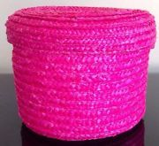 Magenta Wicker Box.