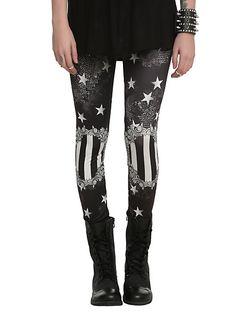 Black Starry Leggings | Hot Topic