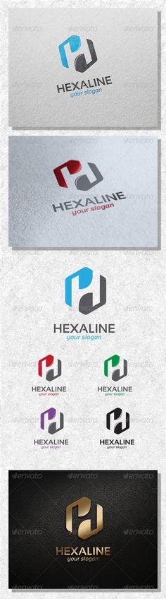 Hexa Line  Logo Design Template Vector #logotype Download it here: http://graphicriver.net/item/-hexa-line-logo-template/7838414?s_rank=229?ref=nexion