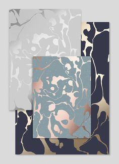 Marble pattern gold foil notebooks