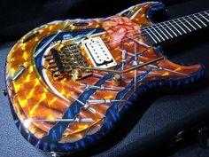 Wayne Guitars Rock Legend custom paint NAMM Display'08