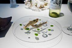 Les Créations de Narisawa - Chiayu, sweet fish food presentation