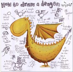 How to Draw a Dragon. My girls love How to Train Your Dragon. They enjoyed this :)
