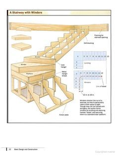 How to draw stairsteps winding or turned stairways for Basement framing calculator