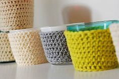 Sweater Candle Holder Cozies