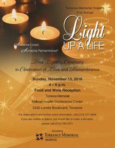 November 13, 2016  Light Up a Life Tree Lighting  http://www.southbaybyjackie.com/light-life-tree-lighting/  #Southbay #Events #LightUpaLifeTreeLighting #TorranceMemorialHospice #TorranceMemorialMedicalCentersHoffmanHealthConferenceCenter #NationalHospice #PalliativeCareMonth #LosCancionerosMasterChorale #PalosVerdesPeninsulaHighSchoolSymphonicOrchestra #Torrance