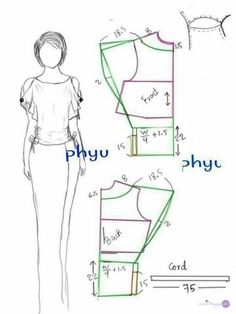 Sewing Blouse Blouse pattern cut out sleeves Dress Sewing Patterns, Blouse Patterns, Clothing Patterns, Skirt Patterns, Coat Patterns, Sewing Hacks, Sewing Tutorials, Dress Tutorials, Sewing Collars