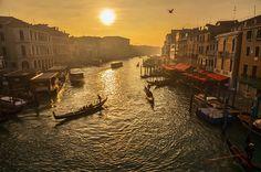 Venice's Grand Canal from the Rialto  -- Courtesy of Alexandre Moreau via Flickr