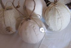 Burlap and Muslin Fabric Rag Balls