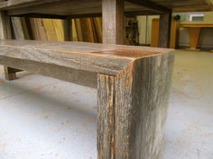 Arbor Exchange | Reclaimed Wood Furniture: Silver Weathered Outdoor Table + Bench
