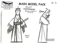"Art of Animation : penciltests: Model Sheet Monday ""Samurai Jack""..."