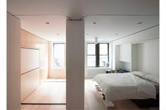 ... to produce a second bedroom or office. - 150 Sullivan Street, Apt. 11, New York City - Transforming Micro Apartment