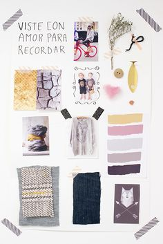 Mood Board Workshop. Topic: Concept for a new collection on mother's and children wear by Piedad Rodriguez