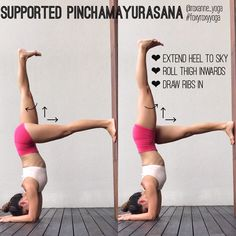 "283 Likes, 8 Comments - Roxanne Gan  (@roxanne_yoga) on Instagram: "" If you find it really hard to 'kick into' pinchamayurasana forearmstand, using the wall might be…"""