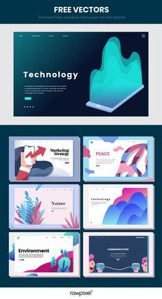 Tips, Tricks And Advice To Take Your Website Design To A New Level. There's a lot more involved with website creation than you think. Powerpoint Design Templates, Templates Free, Free Vector Illustration, Marketing Technology, Image Fun, Mode Shop, Startup, Mobile App Design, Interactive Design