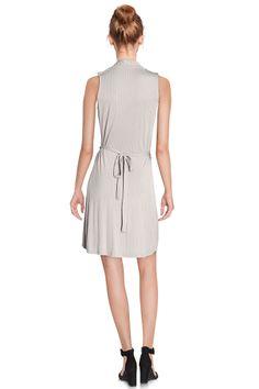 Vente Etam / 12499 / Robes / Sans Manches et MC Casual / Robe Gris et Blanc