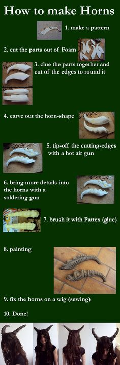 How to make horns from foam.
