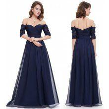 Ever Pretty plesové šaty s flitry tmavě modrá