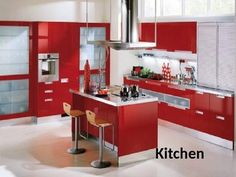 Red kitchen cabinets have some stylish ideas to bring kitchen beautiful and interesting. You can bring it by one of 20 stylish ways to work with red kitchen cabinets. I will tell you the reason why this year will be the year of red kitchen cabinets. Red Kitchen Walls, Two Tone Kitchen Cabinets, Red Cabinets, Kitchen Colors, Kitchen Ideas, Kitchen Decor, Kitchen Layouts, Kitchen Inspiration, Kitchen Cupboard
