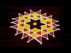 Rangoli Designs Flower, Rangoli Kolam Designs, Simple Rangoli, Mehndi Designs, Good Morning Happy, Krishna Painting, Pooja Rooms, Hindus, Traditional Design