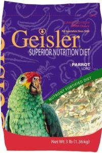 Geisler Parrot Budgie Seed Diet pellet food