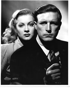 Anne Jeffreys and Lawrence Tierney for Dillinger directed by Max Nosseck). Old Film Stars, Movie Stars, Lawrence Tierney, Crimes And Misdemeanors, Crime Film, Fritz Lang, Star Wars, Guys And Dolls, Tough Guy