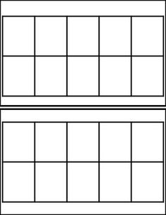 black white ten frame templates 2 per page print laminate