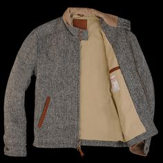 UNIONMADE Harris Tweed - Golden Bear Barracuda in Charcoal Herringbone