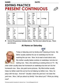 English Grammar Present Continuous English Grammar For Kids, Teaching English Grammar, English Grammar Worksheets, English Verbs, English Reading, Grammar And Vocabulary, Grammar Lessons, English Language Learning, English Vocabulary