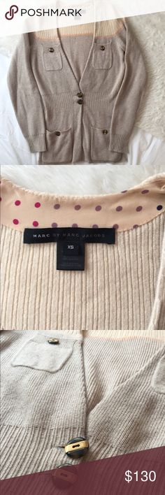 Marc by Marc Jacobs Cardigan Peach/Taupe Marc by Marc Jacobs cashmere cardigan with tortoise shell buttons. Barely worn great condition! Marc by Marc Jacobs Sweaters Cardigans