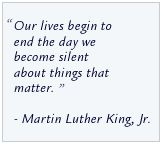 Martin Luther King  my favorite quote