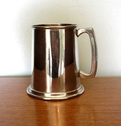 Vintage pewter tankard stein made in Sheffield England breweriana 10th Wedding Anniversary gift 1960s 60s One pint English Beer from UK by IrishBarnVintage on Etsy