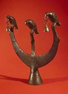 Finial in the Form of Three Birds, Scythian Culture. Second half of the 4th century BC  Found: Alexandropol Barrow. the Dnieper Region, the right bank of the Dnieper River